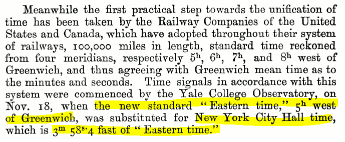 Excerpt from a Royal Astronomical Society report discussing a then-recent conference on standardizing time and longitude. See footnote.