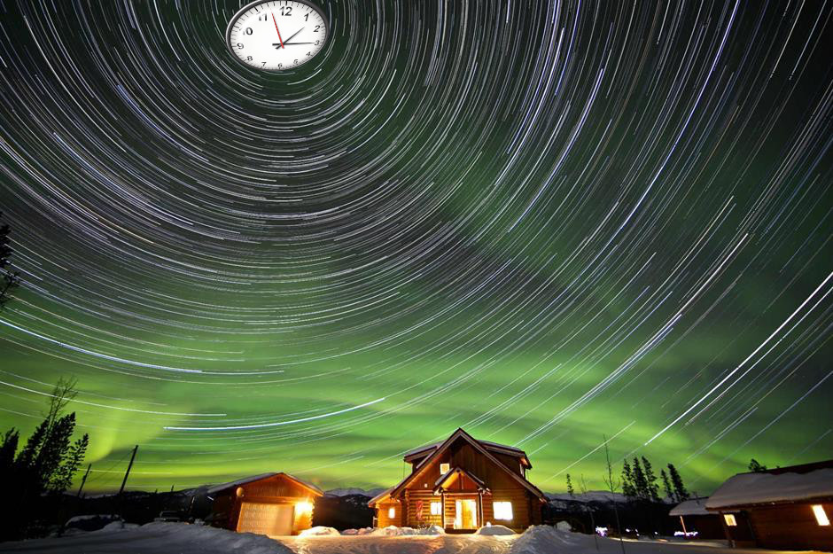 The Northern Lights in the Yukon.
